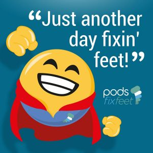 Just another day fixin' feet!