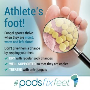 Athletes Foot #Podsfixfeet