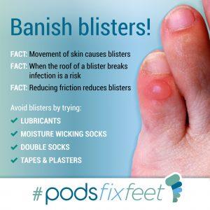 Banish Blisters. #Podsfixfeet