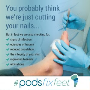 You probably think we're just cutting your nails #Podsfixfeet