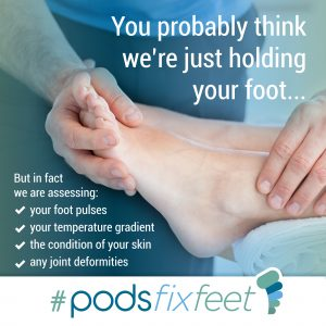 You probably think we're just holding your foot #Podsfixfeet