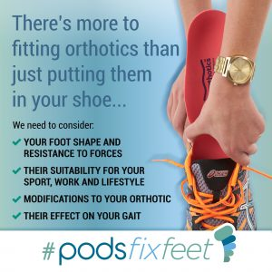 There's more to orthotics than just putting them in your shoe #Podsfixfeet