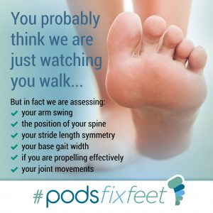 You probably think we are just watching you walk #Podsfixfeet