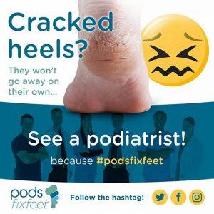 Cracked heels? See a Podiatrist