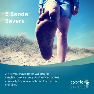 Sandal savers - Check your feet