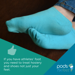 Athletes Foot - treat hosiery and shoes too