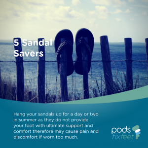 Sandal Savers - Sandals are not an everyday shoe