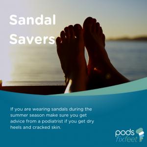 Sandal savers - Dry, cracked skin